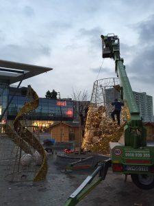 Vianočný stromček - prenájom plošín Aupark Košice